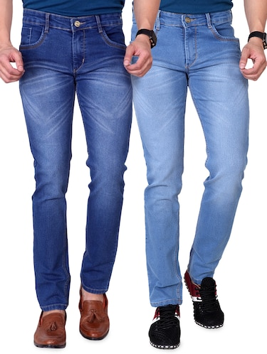 blue denim washed jeans - 15863341 - Standard Image - 1