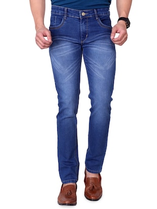 blue denim washed jeans - 15863341 - Standard Image - 2
