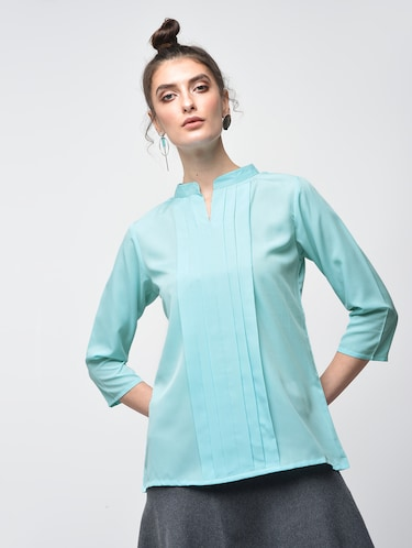 fc23dd647db2f Buy Blue Cold Shoulder Top for Women from Indietoga for ₹695 at 46 ...