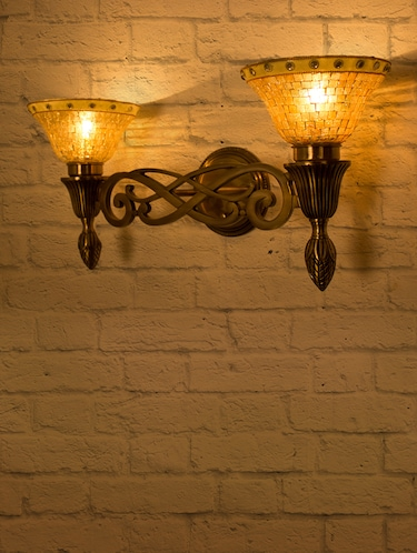 Sweeping Scroll Double Wall Sconce Lamp - 15882742 - Standard Image - 1