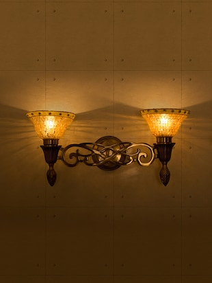 Sweeping Scroll Double Wall Sconce Lamp - 15882742 - Standard Image - 2