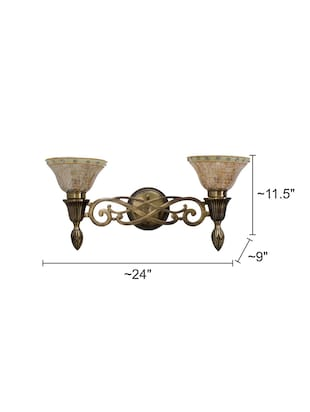 Sweeping Scroll Double Wall Sconce Lamp - 15882742 - Standard Image - 5