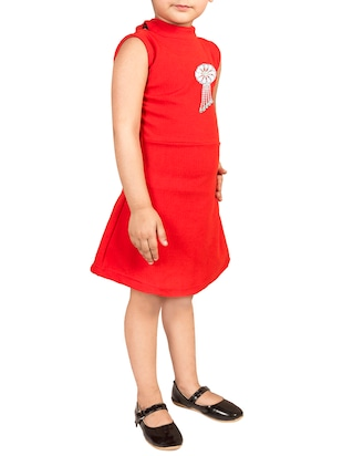 red cotton frock - 15893042 - Standard Image - 2