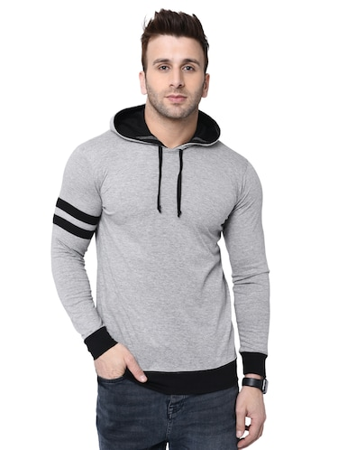 cdee3f316e4 Buy Grey Solid Hooded T-shirt for Men from Kay Dee for ₹358 at 70 ...