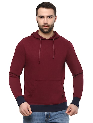 red cotton sweatshirt - 15901841 - Standard Image - 1