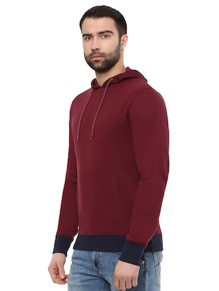 red cotton sweatshirt - 15901841 - Standard Image - 2