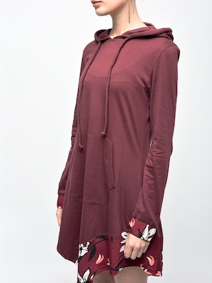 asymmetric hooded dress - 15907076 - Standard Image - 5