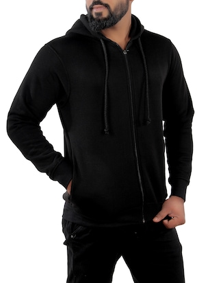 black fleece sweatshirt - 15908335 - Standard Image - 2