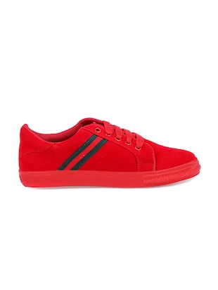 red lace-up sneakers - 15912930 - Standard Image - 2