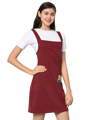 quirky patch pinafore dress with tee - 15914020 - Standard Image - 2