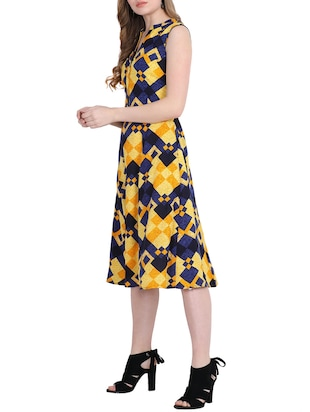 Geometric print a-line dress - 15916000 - Standard Image - 2