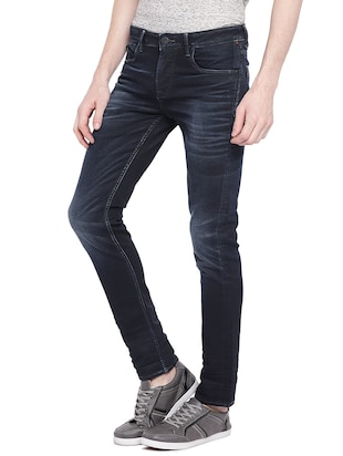 blue cotton washed jeans - 15930478 - Standard Image - 2