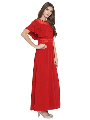 lace paneled maxi dress - 15931044 - Standard Image - 2