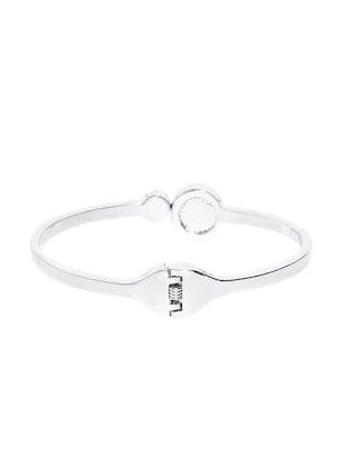 silver metal bangle  bracelet - 15933183 - Standard Image - 2
