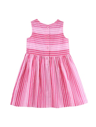 pink cotton frock - 15958253 - Standard Image - 2