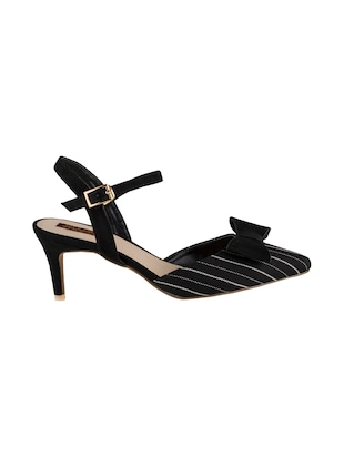 black synthetic back strap sandals - 15973383 - Standard Image - 2