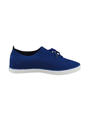 blue Fabric lace up sneakers - 15987824 - Standard Image - 2