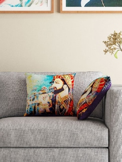set of 2 16″ x 16″ square cushion covers