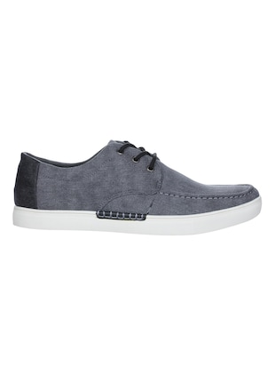grey Canvas lace up sneakers - 16007905 - Standard Image - 2