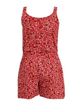 red cotton playsuit - 16013489 - Standard Image - 2