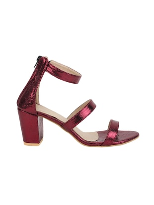 maroon closed back sandals - 16029225 - Standard Image - 2