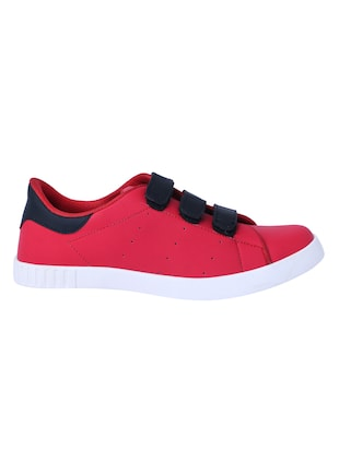 red leatherette slip on sneakers - 16046825 - Standard Image - 2