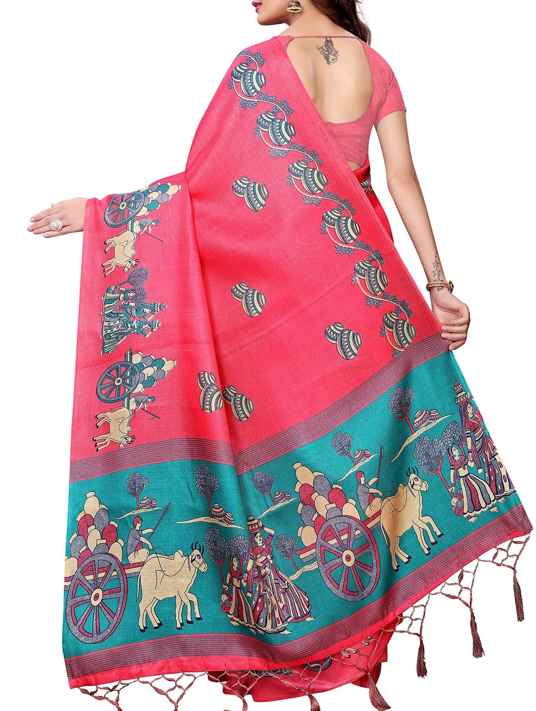 fee963fafff34 ... kalamkari printed saree with blouse - 16058052 - Zoom Image - 2