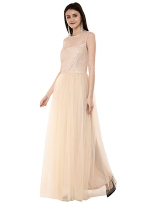 sequined flared gown - 16078767 - Standard Image - 2