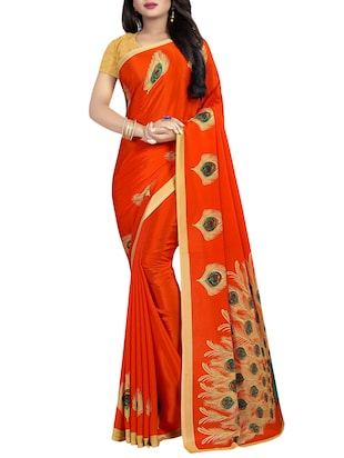 set of 2 multicolor printed saree combo with blouse - 16085462 - Standard Image - 2