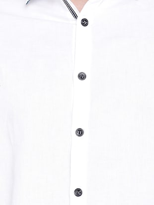 white solid casual shirt - 16086830 - Standard Image - 5