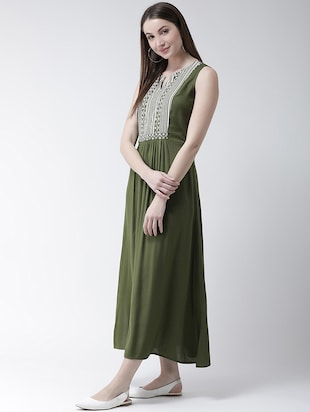 gather detail maxi dress - 16094180 - Standard Image - 2