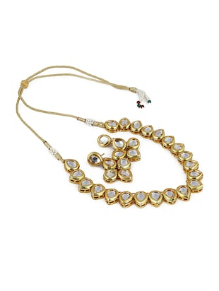 gold metal statement necklace - 16094679 - Standard Image - 2