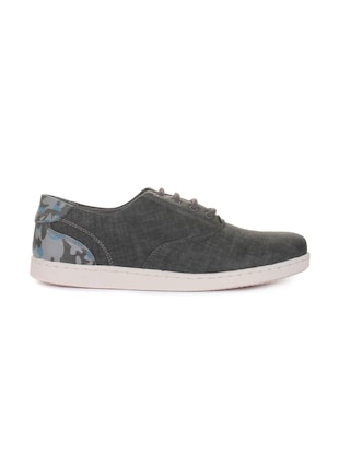 grey synthetic lace up sneakers - 16096737 - Standard Image - 2