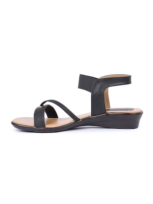 black back strap sandals - 16098517 - Standard Image - 2
