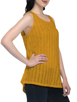 sleeveless striped top - 16098806 - Standard Image - 2