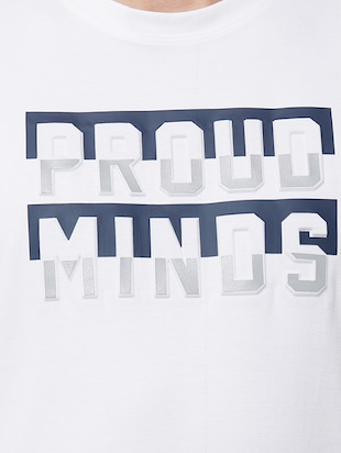 white typographic chest print t-shirt - 16099997 - Standard Image - 5