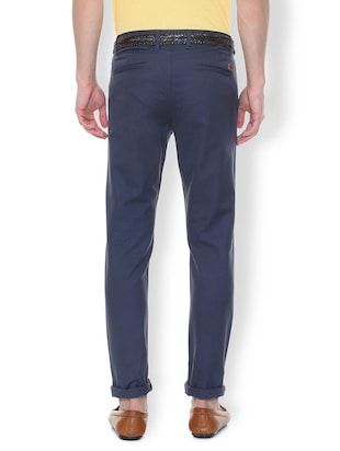 blue textured chinos - 16106841 - Standard Image - 2