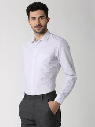 white striped formal shirt - 16107526 - Standard Image - 2