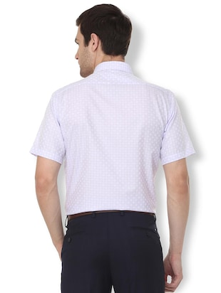 white checkered formal shirt - 16107747 - Standard Image - 2