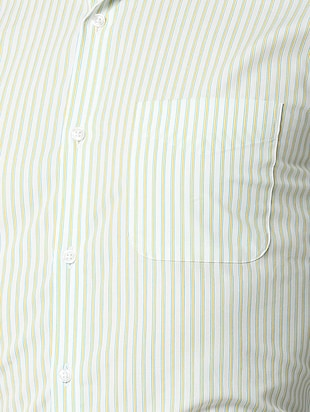 white striped formal shirt - 16107815 - Standard Image - 5