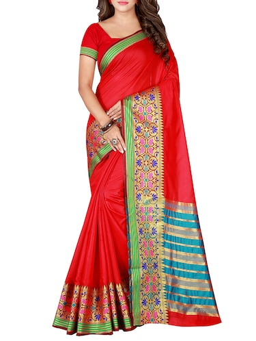 f76015c6e Buy Maroon Color Saree With Blouse for Women from Rajnandini for ₹1738 at  21% off