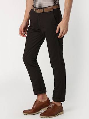 brown solid chinos  - 16128980 - Standard Image - 2