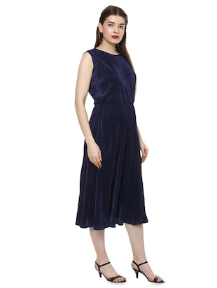 accordion pleat a-line dress - 16135862 - Standard Image - 2