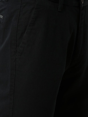 black solid chinos - 16137409 - Standard Image - 5