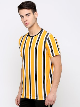 yellow striped t-shirt - 16139249 - Standard Image - 2