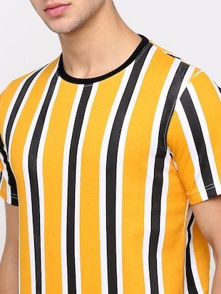 yellow striped t-shirt - 16139249 - Standard Image - 5