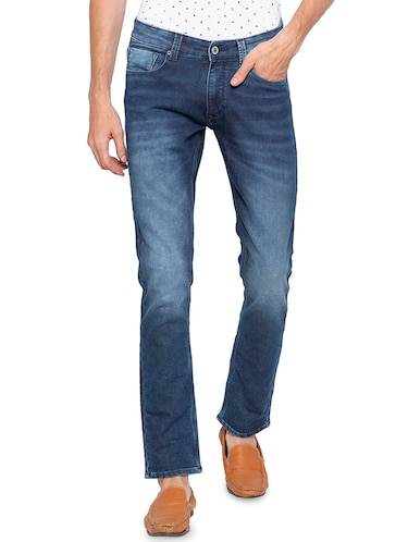blue heavy washed jeans - 16140309 - Standard Image - 1