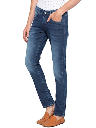 blue heavy washed jeans - 16140309 - Standard Image - 2