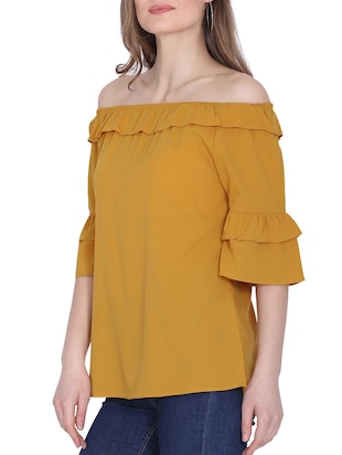 da368ecda7a06a Buy Off Shoulder Ruffle Top for Women from Zooraa for ₹413 at 48 ...