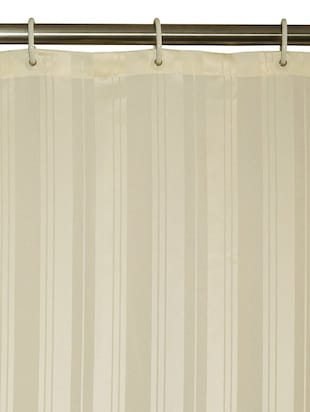 Thick Striped Water Repellent Shower Curtain Size 180x200 cm - 16142076 - Standard Image - 2
